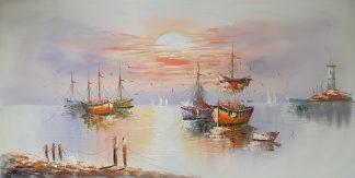 «Корабли» картина  60х120 арт.Б102