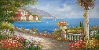 «Вид на бухту» картина  60х120 арт.Б104