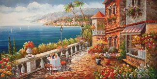 «Южный пейзаж» картина  60х120 арт.Б106