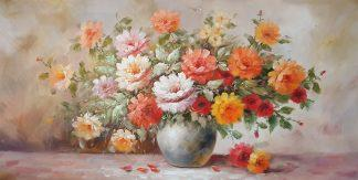 «Цветы» картина  60х120 арт.Б109