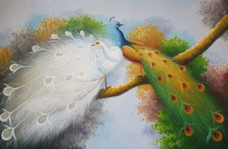 «Павлины» картина  60х90 арт.9А033