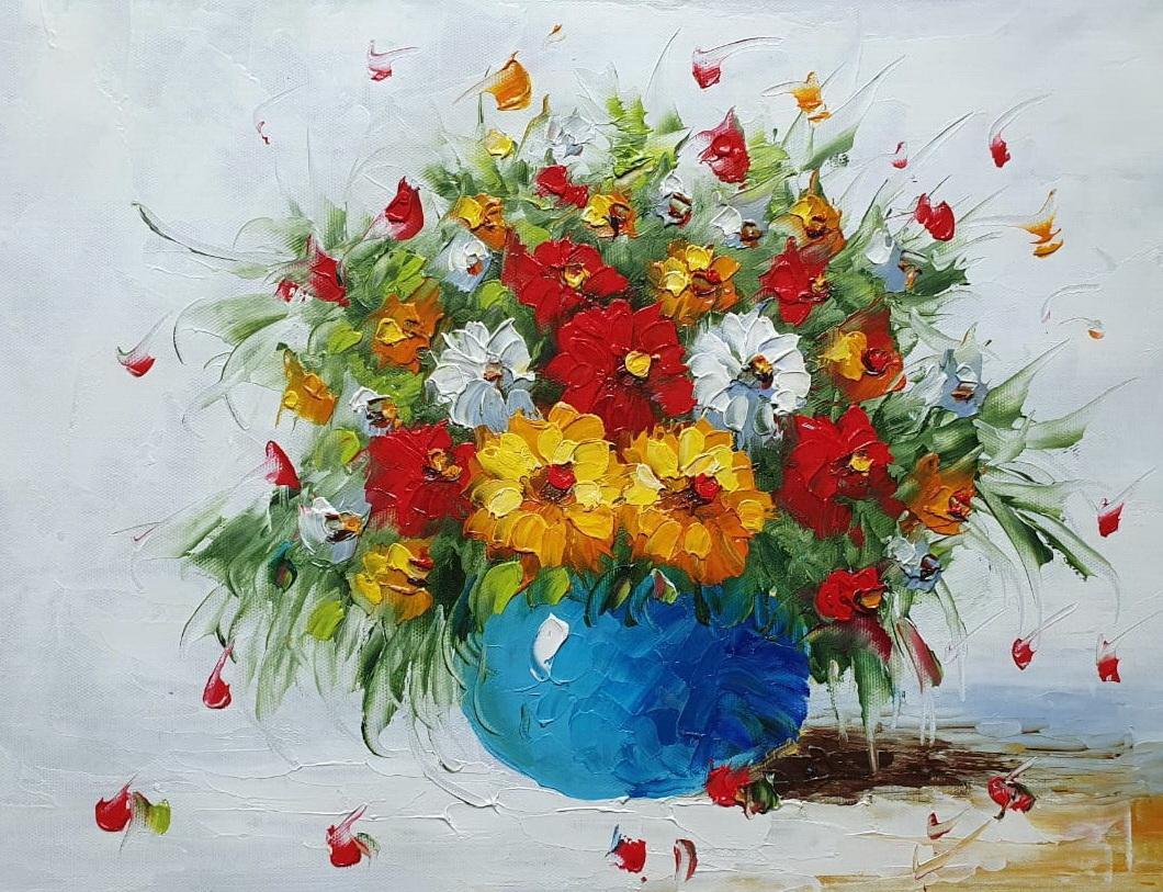 «Букет полевых цветов» картина 30х40 арт.3Ц060