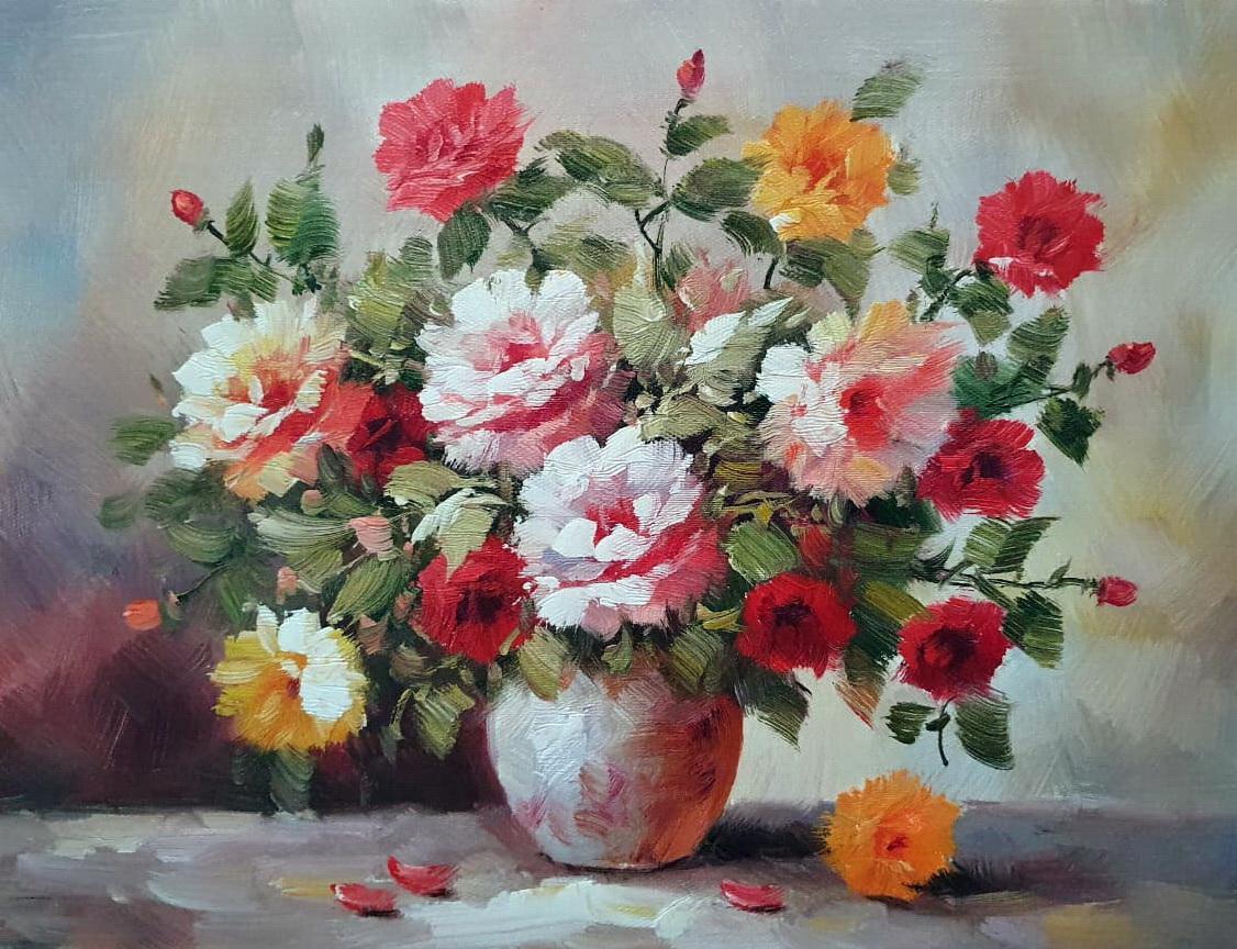 «Букет цветов» картина 30х40 арт.3Ц062