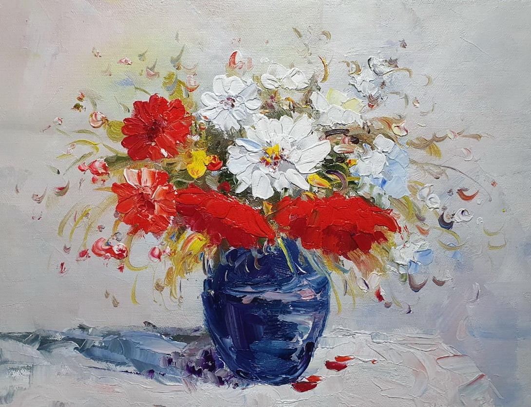 «Букет на столе» картина 30х40 арт.3Ц063