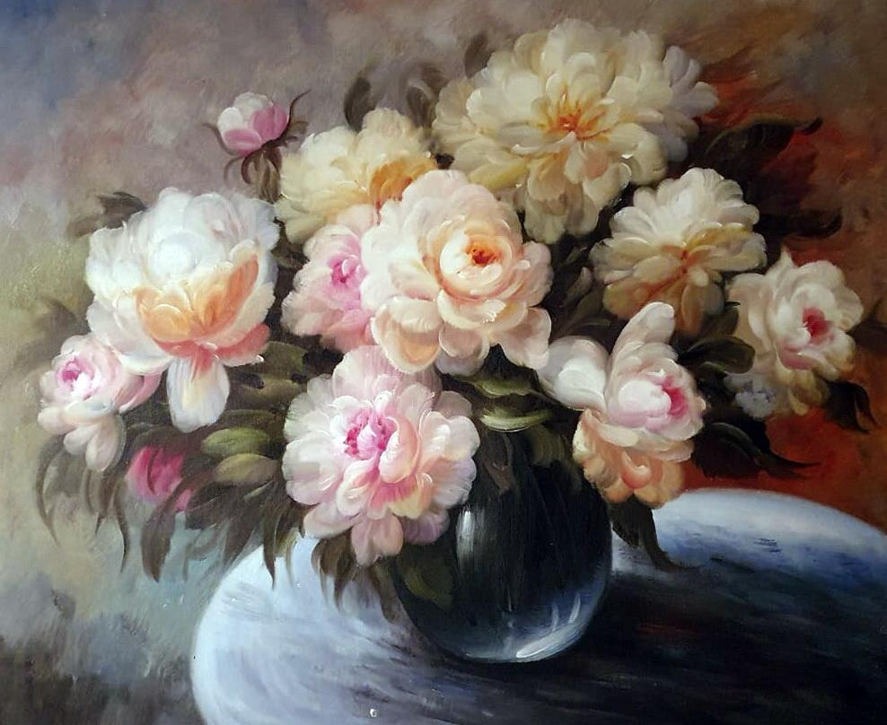 «Пионы на столе» картина 50х60 арт.5Ц225