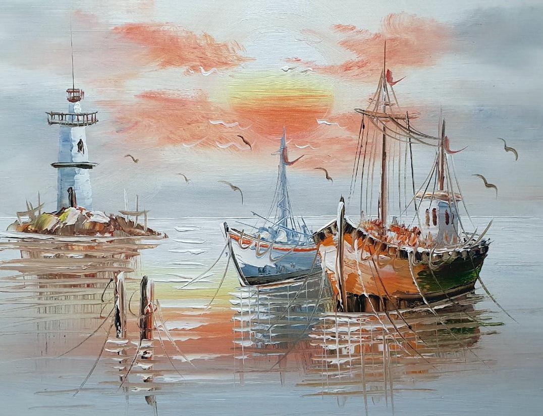 «Лодки» картина 30х40 арт.3Л030