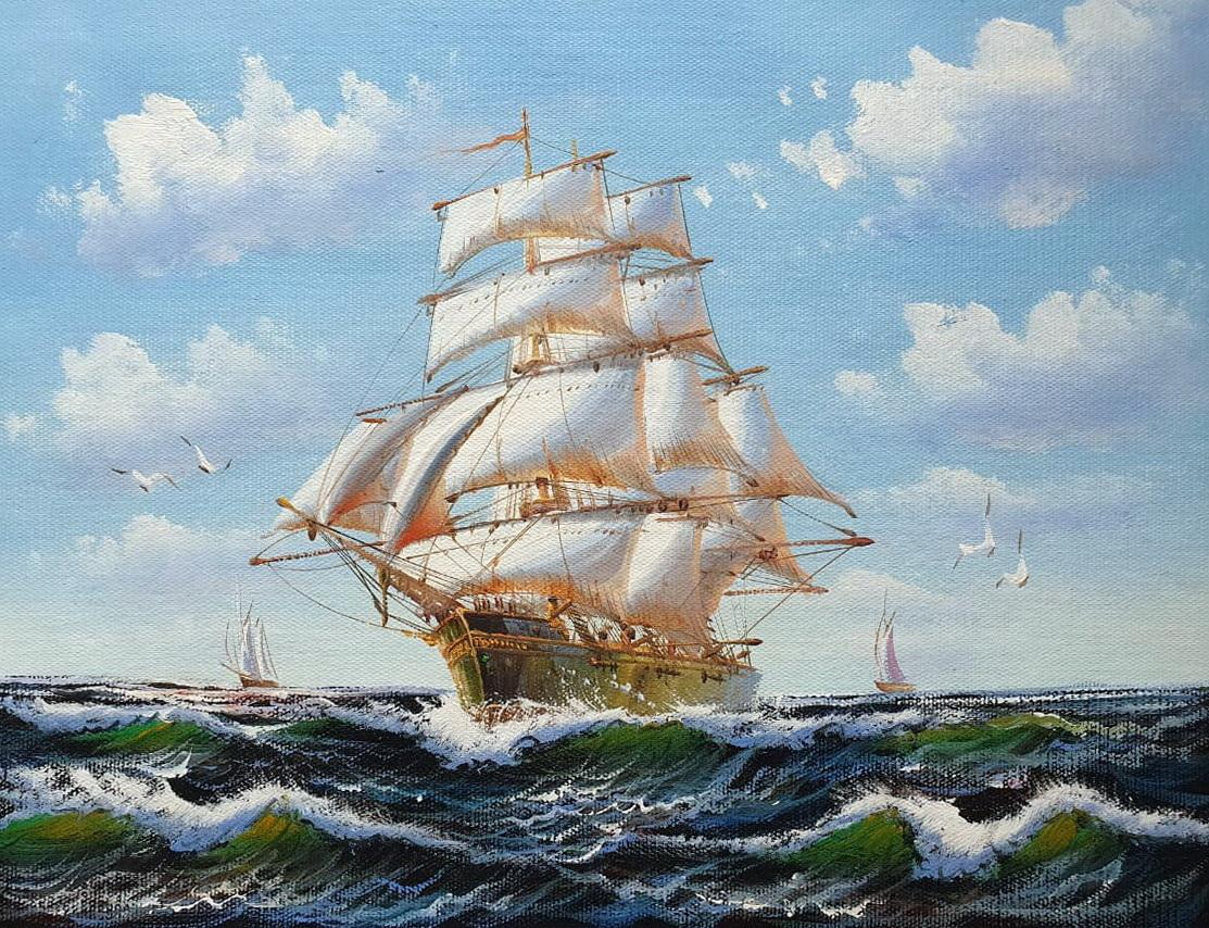 «Парусник» картина 30х40 арт.3Л031