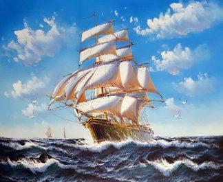 «Парусник» картина 50х60 арт.5Л093