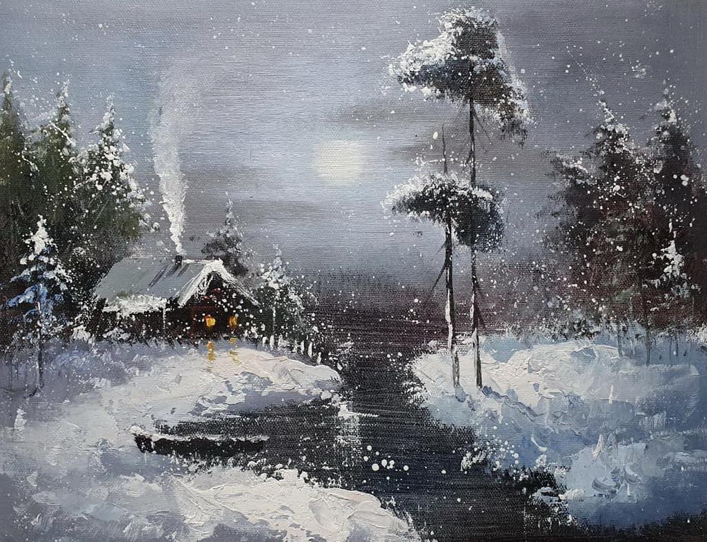 «Зима» картина 30х40 арт.3П045
