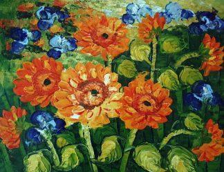 «Подсолнухи Ван Гога» картина 30х40 арт.3Р075