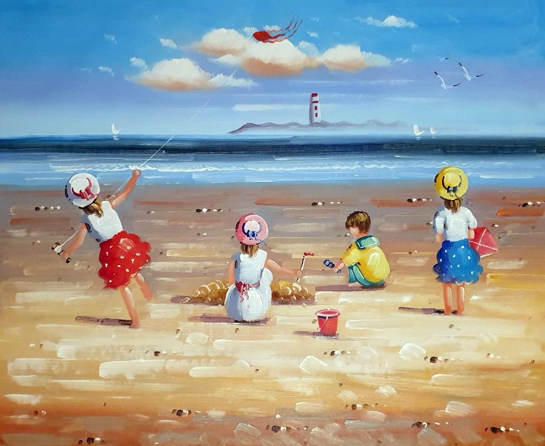 «Дети у моря» картина 50х60 арт.5Р098