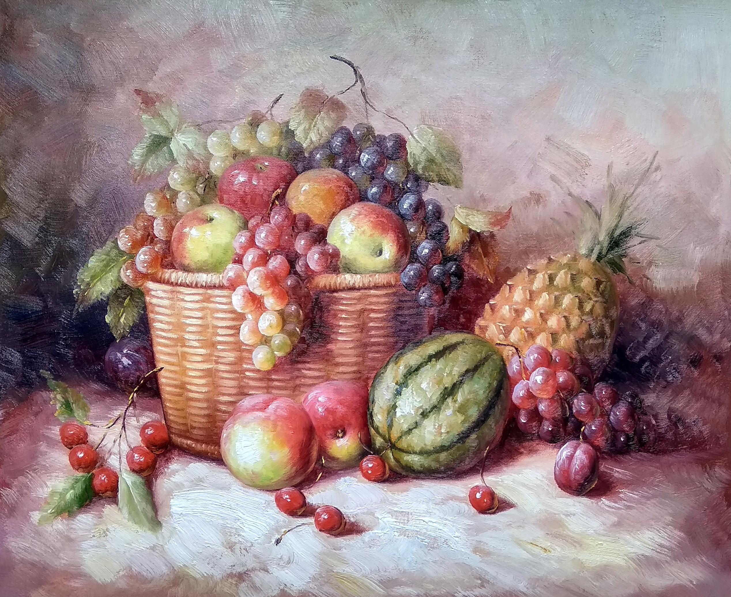 «Корзина с фруктами» картина 50х60 арт.5Ц231
