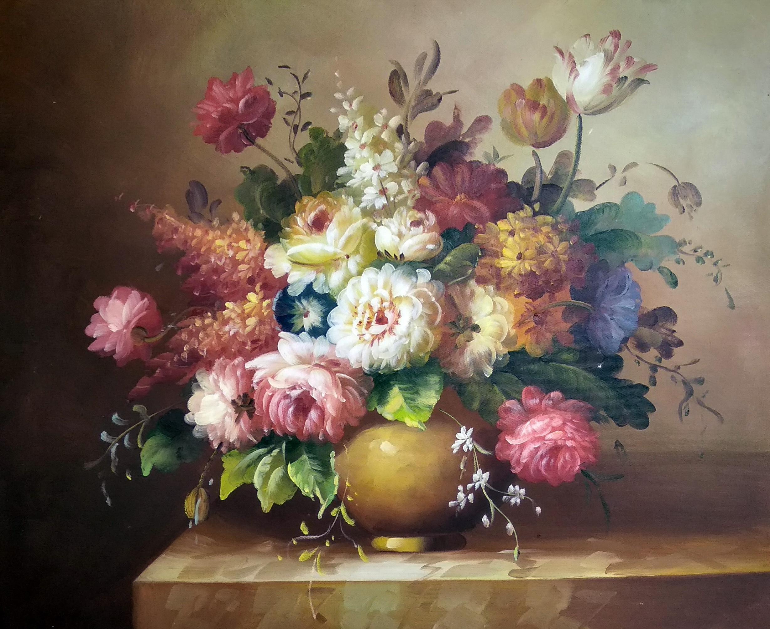 «Пионы на столе» картина 50х60 арт.5ц282
