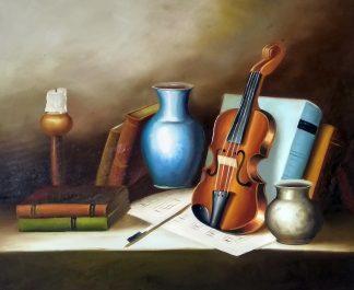 «Натюрморт со скрипкой» картина 50х60 арт.5ц283