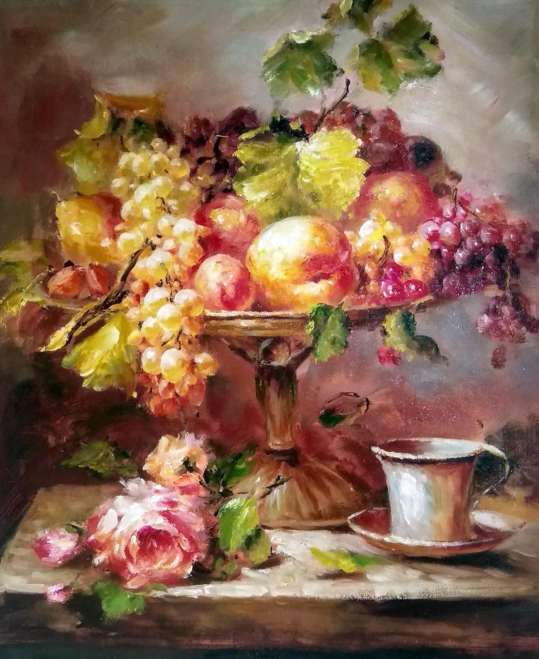 «Фрукты в вазе» картина 50х60 арт.5ц287