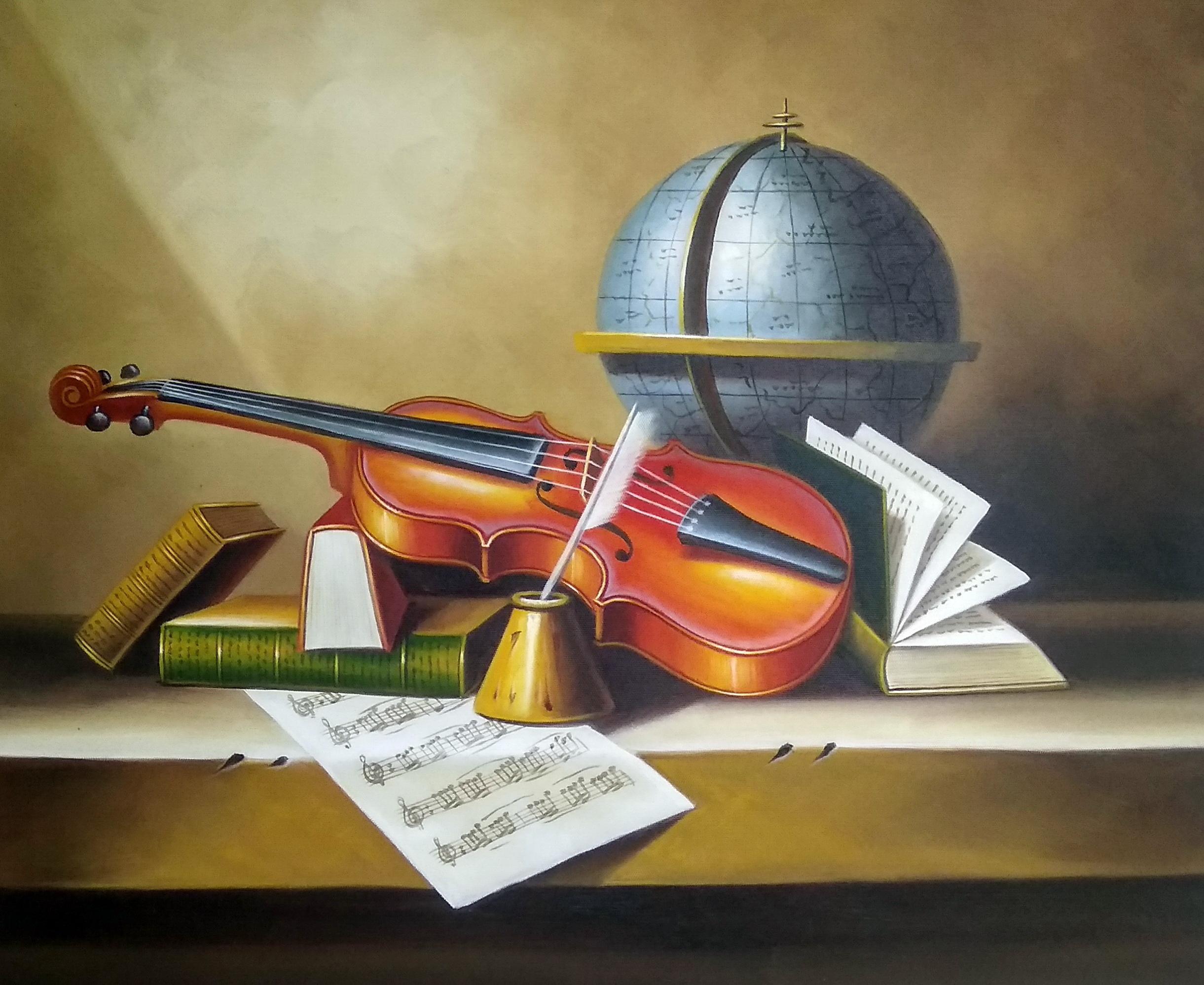 «Натюрморт со скрипкой» картина 50х60 арт.5ц289