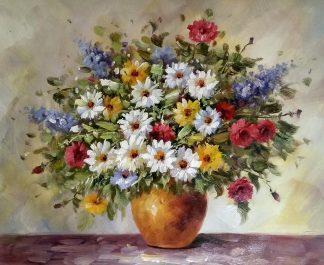 «Букет с ромашками» картина 50х60 арт.5ц290