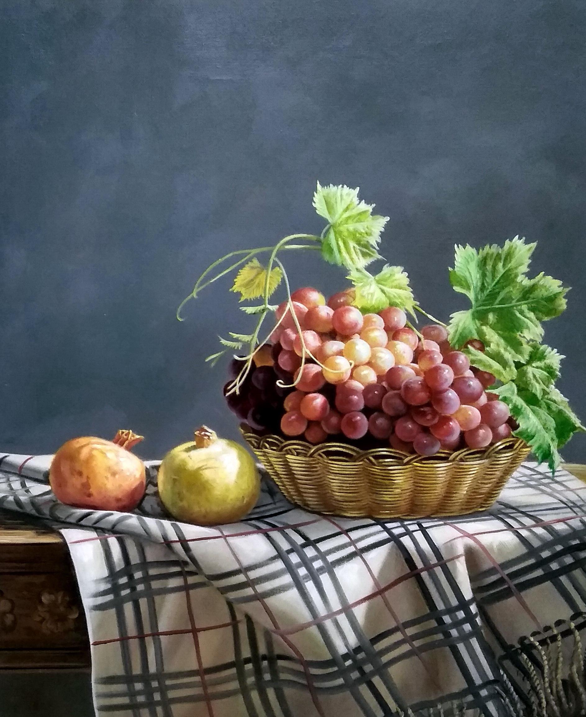 «Виноград и гранат» картина 50х60 арт.5ц297