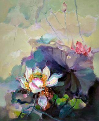 «Водяная лилия» картина 50х60 арт.5ц298