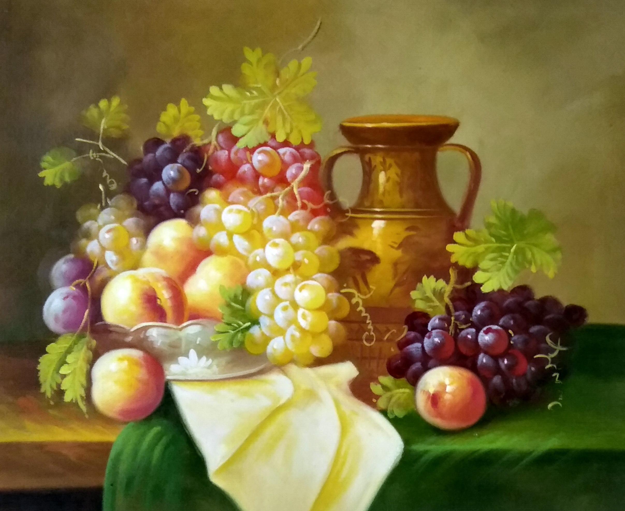 «Персики и виноград» картина 50х60 арт.5ц299