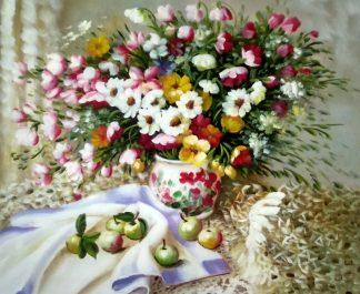 «Букет садовых цветов» картина 50х60 арт.5ц300