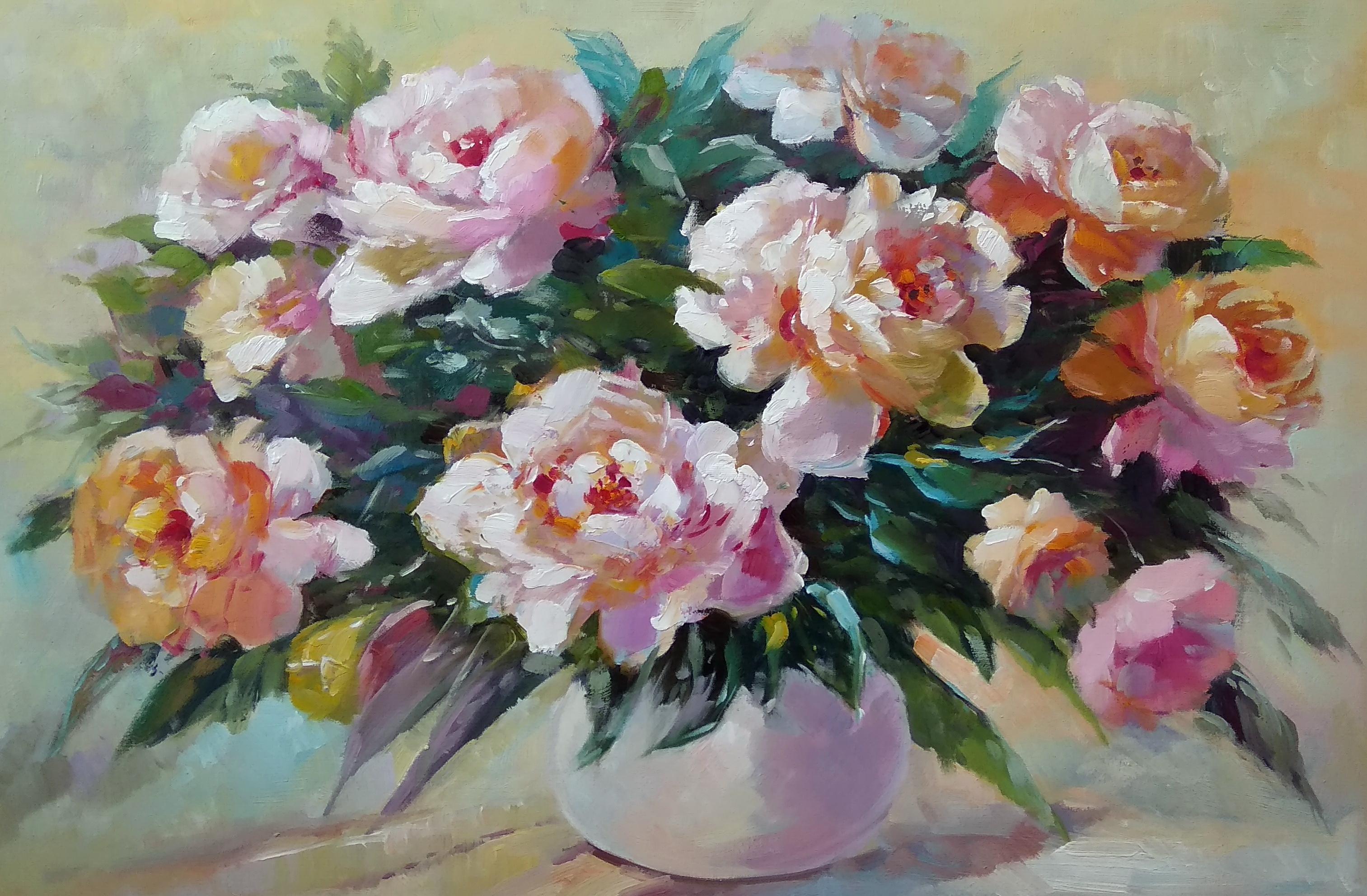 «Букет роз» Картина 60х90 арт. Ц009