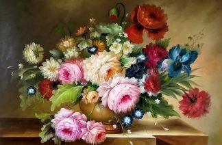 «Пионы и ирис» картина 60х90 арт.9ц018
