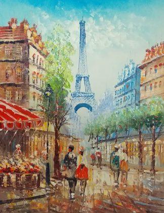 «Вид на Эйфелеву башню» Картина 50х60 арт. Г075