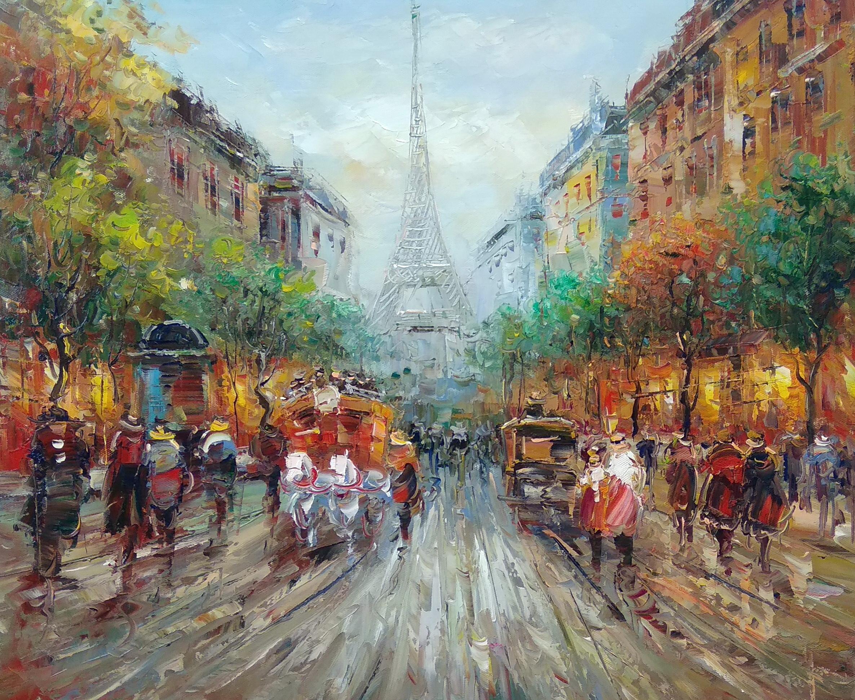«Вид на Эйфелеву башню» Картина 50х60 арт. Г251