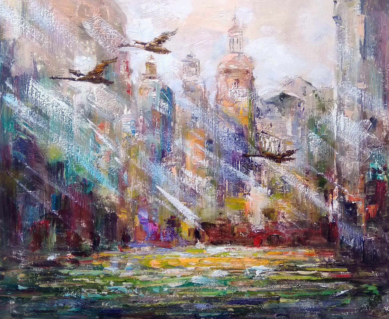 «Солнечный город» Картина 50х60 арт. 5Гр252