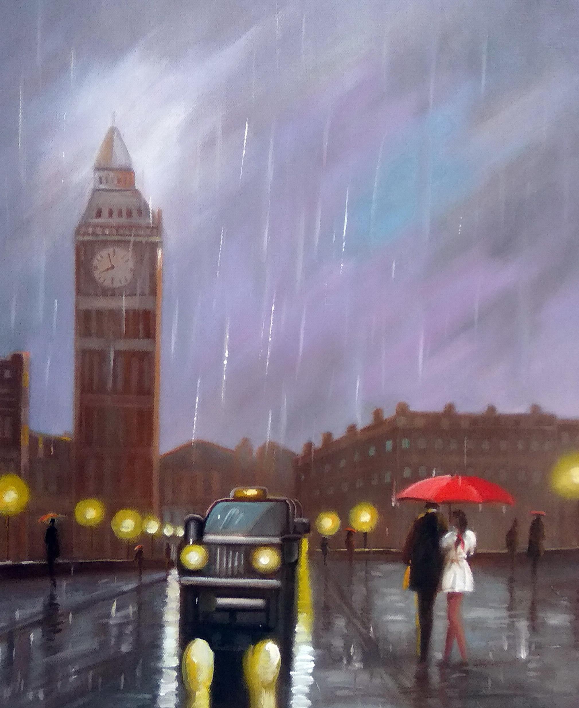 «Под зонтом» Картина 50х60 арт. 5Гр254