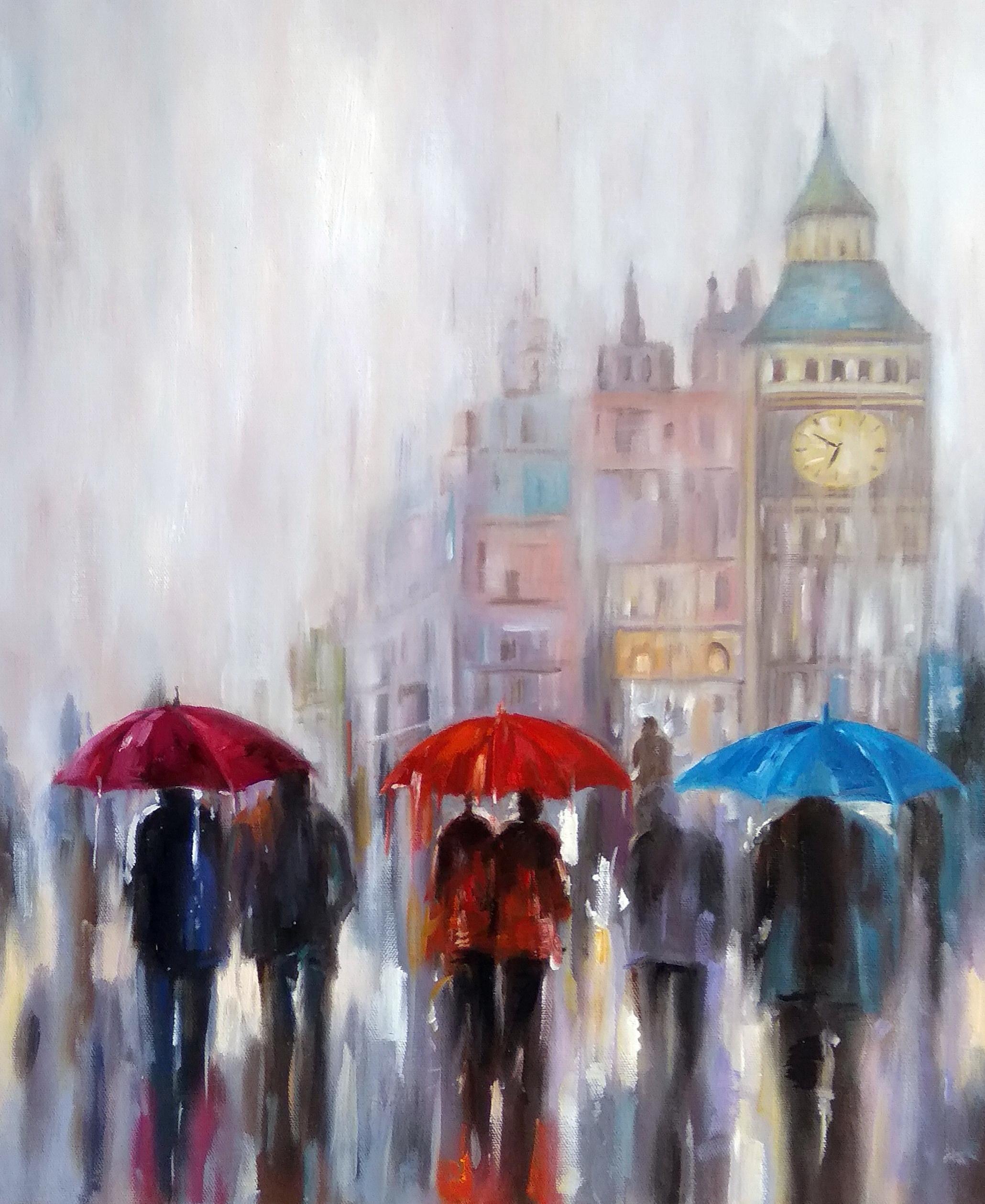 «Зонты» Картина 50х60 арт. Г255