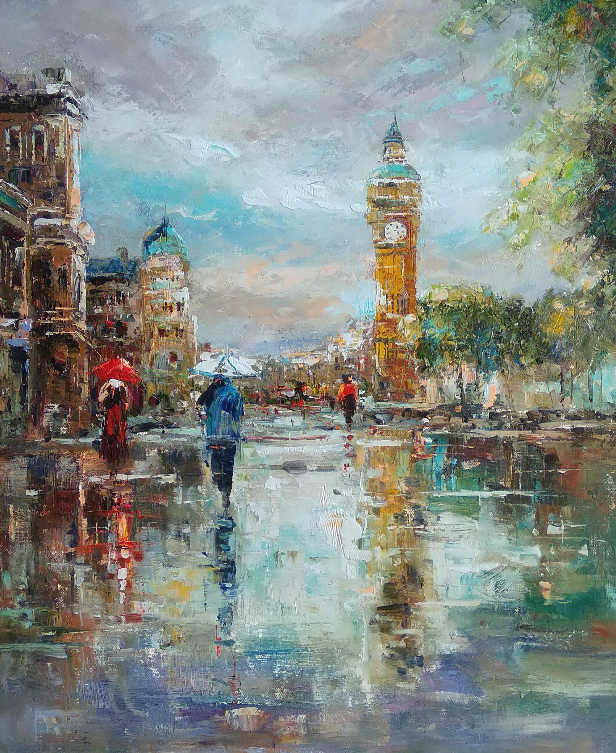 «Дождливый Лондон» Картина 50х60 арт. 5Гр256