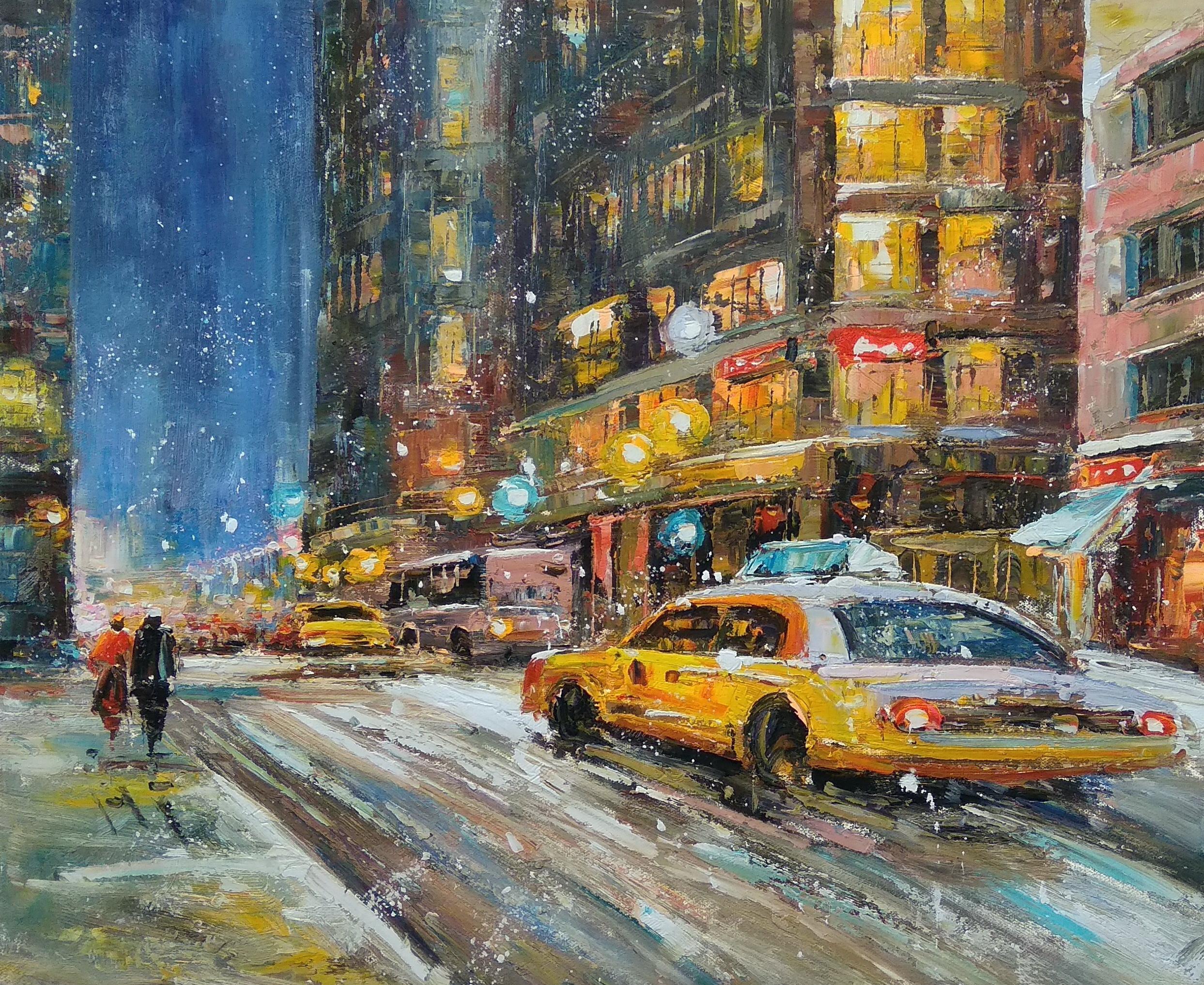 «Нью-Йорк в движении» Картина 50х60 арт. Г257