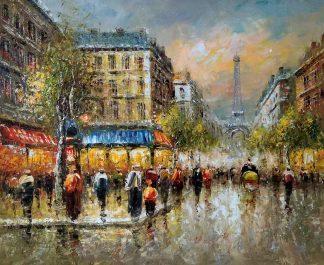 «Прогулка по Парижу» картина 50х60 арт.5гр270