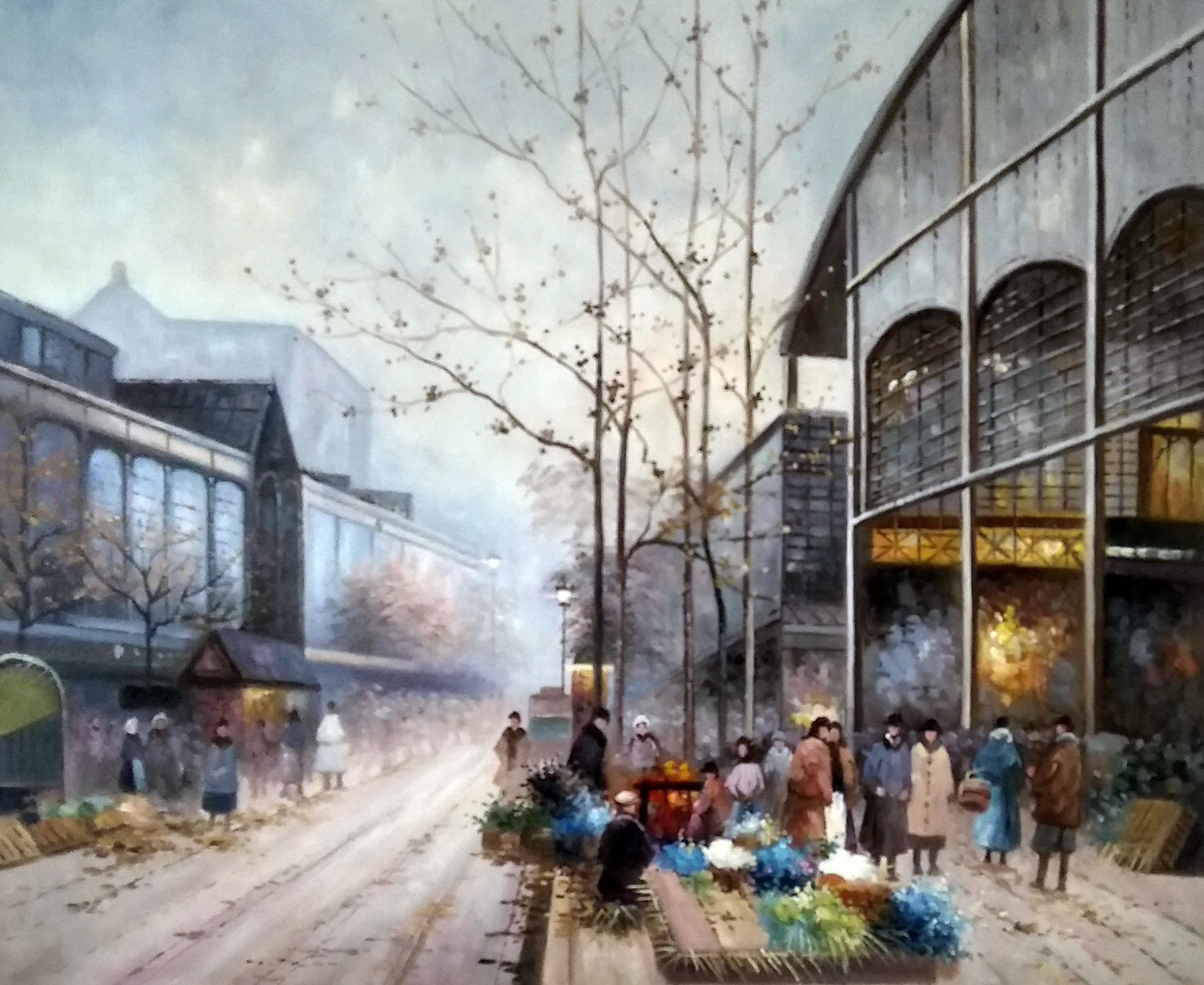 «У рыночной площади» картина 50х60 арт.5гр271