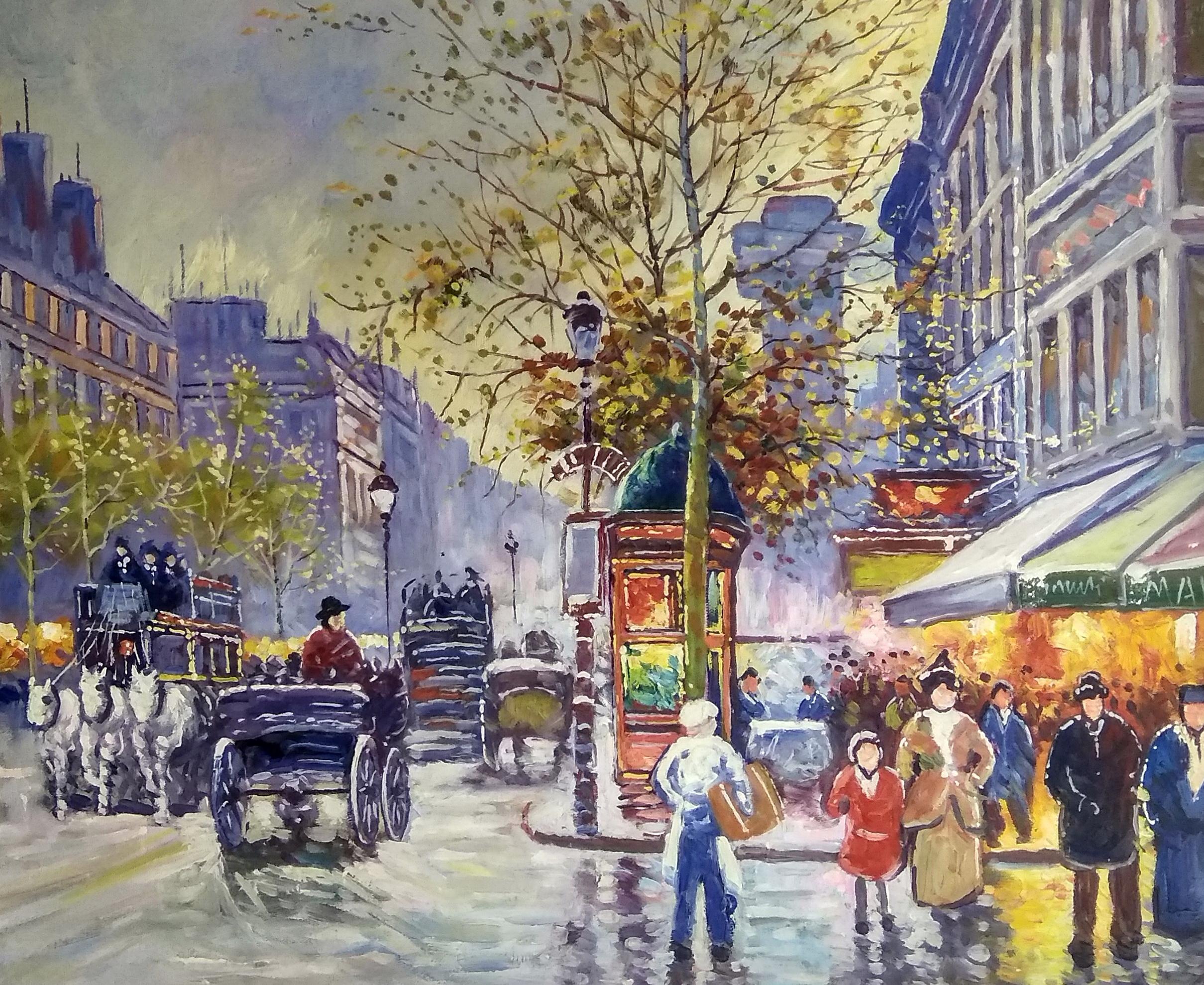«Город после дождя» картина 50х60 арт.5гр272