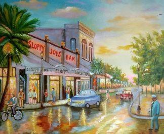 «Вечерняя улица» картина 50х60 арт.5гр273