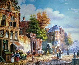 «Серия картин. Голландия 19 век» картина 50х60 арт.5гр275