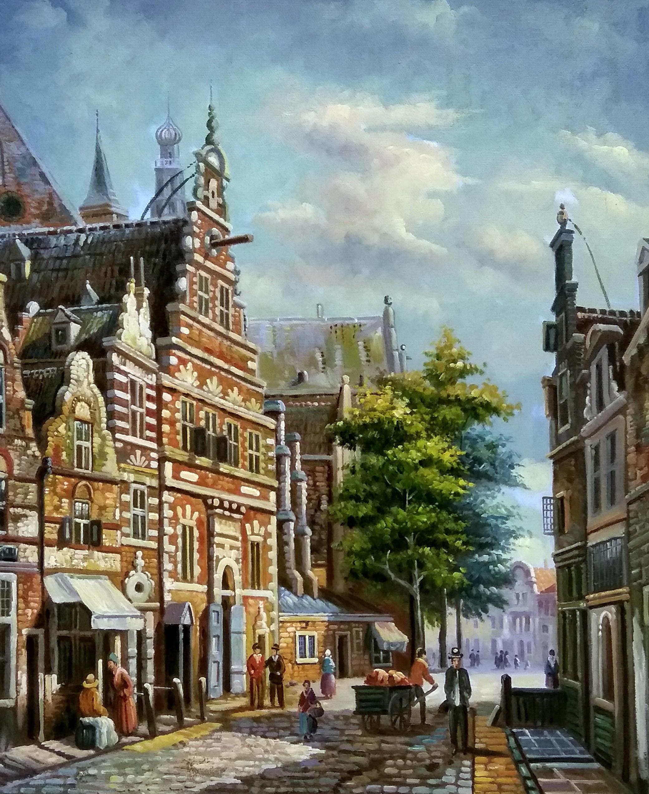 «Серия картин. Голландия 19 век» картина 50х60 арт.5гр279