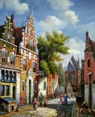 «Серия картин. Голландия 19 век» картина 50х60 арт.5гр280