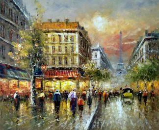 «Париж вечером» картина 50х60 арт.5гр281