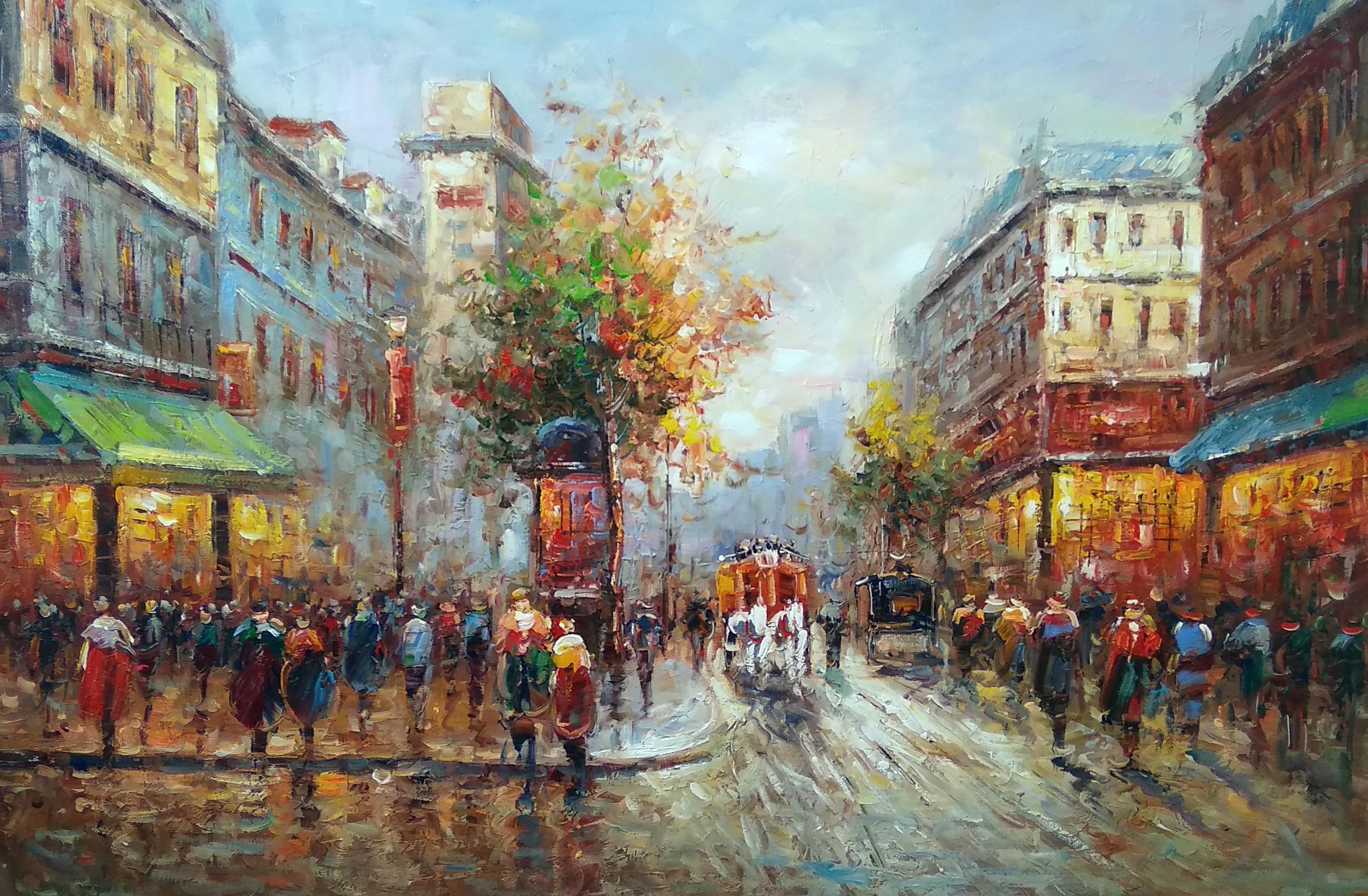 «Парижские улочки» Картина 60х90 арт. Г002
