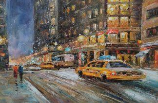«Нью-Йорк в движении» Картина 60х90 арт. Г008
