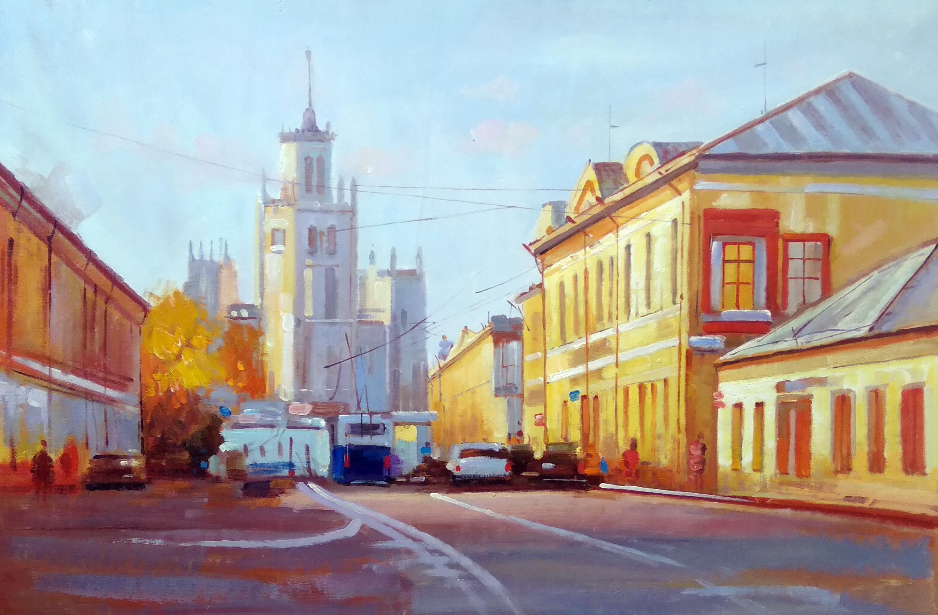 «Московские улочки» Картина 60х90 арт. 9Гр016