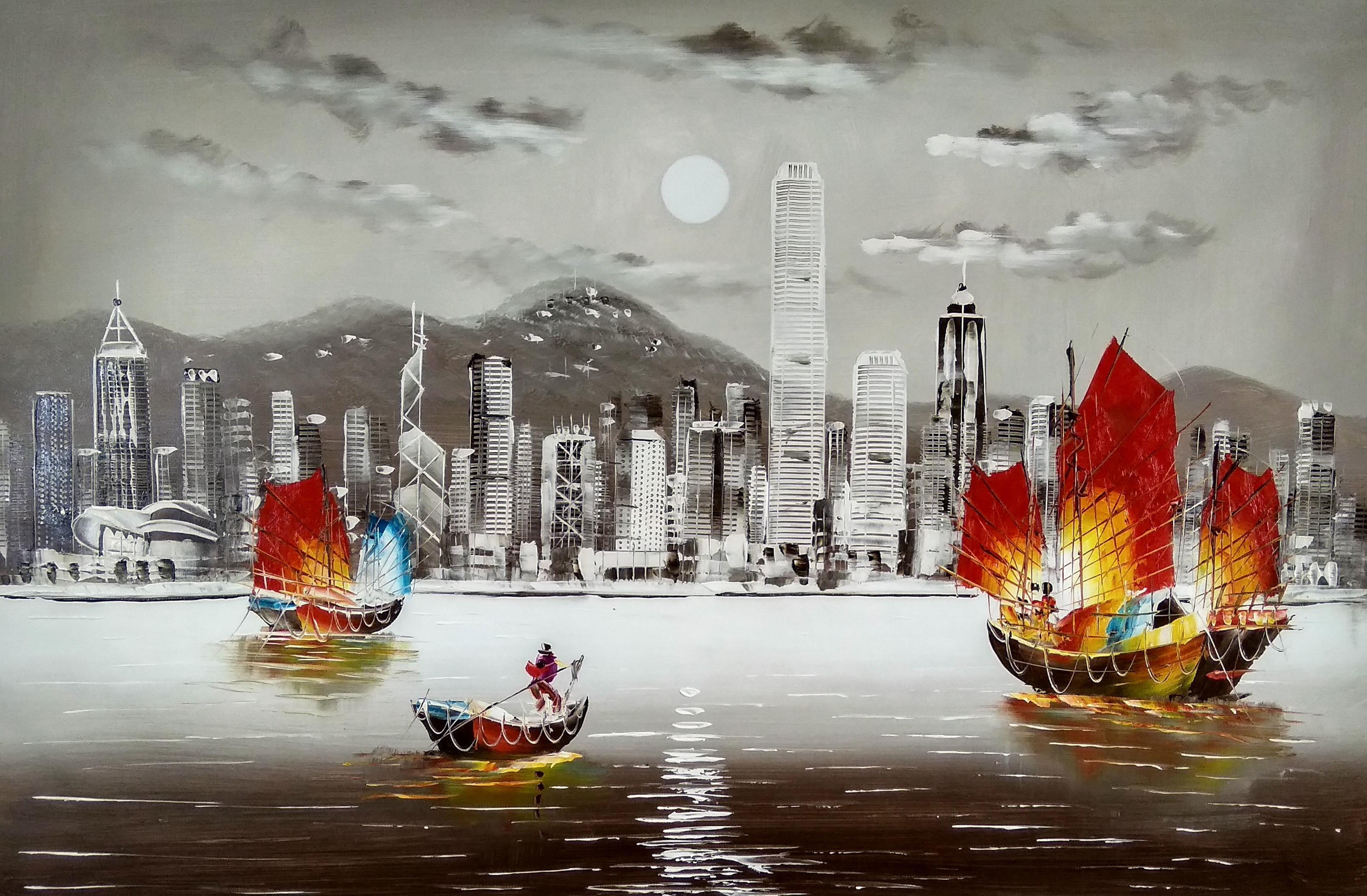 «Гонконг» картина 60х90 арт.9гр020