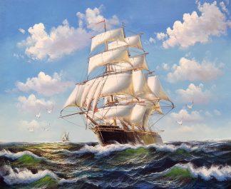 «На всех парусах» Картина 50х60 арт. К050