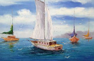 «Яхта» Картина 60х90 арт. К001