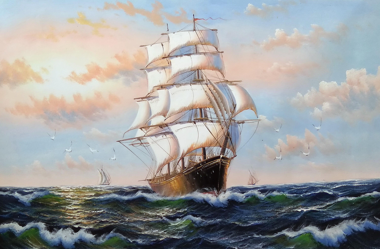 «На всех парусах» Картина 60х90 арт. К002