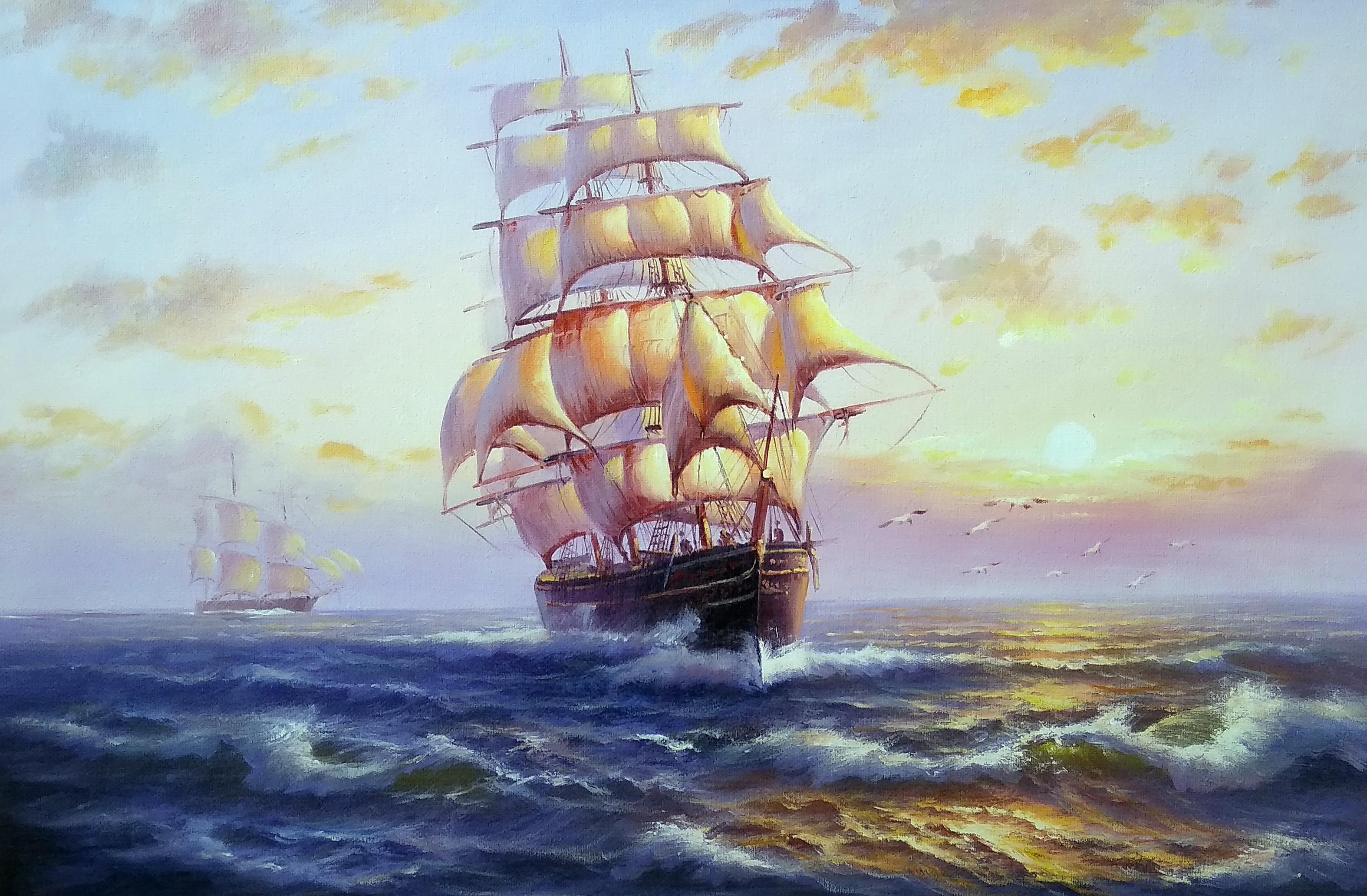 «На всех парусах» Картина 60х90 арт. К007